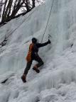 Dirk Fechner in der hohen Eiswand bei Hohnstein