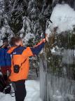 Übung Setzen von Eisgeräten im Uttewalder Grund