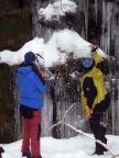 Unser Team beim Versuch - Eisklettern im Uttewalder Grund- 2006