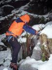 Haltungsübungen beim Eisklettern im Uttewalder Grund, naja, Versuche - 2006