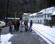 Wieder im Kirnitzschtal, ein paar Stationen geht es mit der Kirnitzschtalbahn zurück