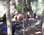 Lagerplatz unseres Kinderklettertages im Bielatal