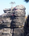 Die letzten Meter zum Gipfel des Julikopfs