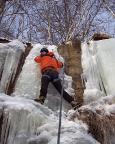 Wiese an einer der kürzreren aber dafür sehr steilen Eissäulen