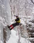 Eis besser, Prozedere gleich – erst das Toprope legen, dann Klettervergnügen