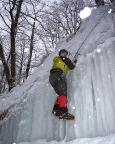 Immer wieder ist der Übergang vom Steileis in das liegende Eis eine besondere Herausforderung