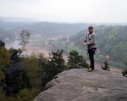 Wiese auf dem Gipfel der Tümpelgrundwand im Wehlener Gebiet