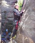 Klettern der höheren Art – Wiese in der Grünen kante, VIIa, am Kubus