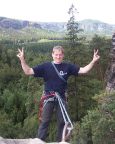Am Abseilstand des Regensteins - eine großartige Sicht