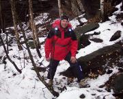Das Bild sagt alles: Schnee, trübe, kalt - das perfekte Kletterwetter