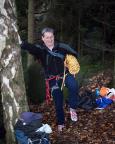 Und es klappt doch, trocken: bereit zur ersten Klettertour des Jahres