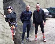 Diese Montage fasst zusammen: ein genialer Kletter- und Joggingtag im Nationalpark