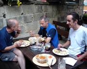 Verdientes Abendessen im tschechischen Hrensko