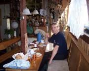 Beim Frühstück in der Ilmtalbaude