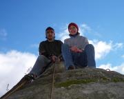 Geschafft - voller Stolz mit Fechi auf dem Gipfel des Knochenturms