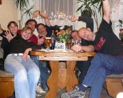 Gipfelfeier für Christina in der Gaststätte und Pension Am Weinberg in Mittelndorf