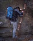 Zustieg zu den Klettergipfeln am Pechofen im Kleinen Zschand