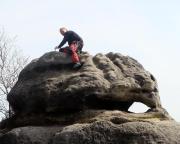 Am Gipfelbuch des Großen Lorenzsteins