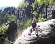Auf dem Gipfel des Ülmtülp im Bereich der Rotkehlchenstiege