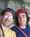 Selfi unter dem Mauerbogen der Festung Königstein