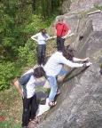 Warmklettern und grundlegende Kenntnisse übern am Vogelstein bei Hohnstein