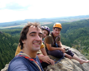 Selfi auf dem Gipfel eines der Lolatürme