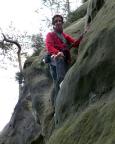 Thomas in der Nordwand, VIIa, an der Kleinsteinwand