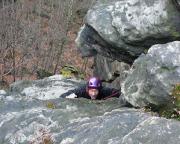 Auf den letzten Metern der Südverschneiduhng VIIa an der Stumpfen Keule - eine echt tolle Klettertour