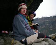 Geschafft - an der Gipfelbuchkassette auf derm herrlichen Falkenstein