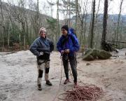 Maria und Volker vor dem Start der tollen Bergfahrt