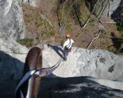 Abseilen am Tümpelgrundturm