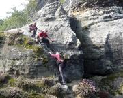Auf dem Rückweg vom Mittleren Torstein über die  Seydeschen Variante zum Alten Weg des Hohen Torsteins