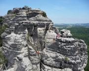 Im Übergangsweg des Vorderen Torsteinkegels, aufgenommen vom Gipfel der Tante