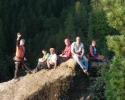 Unser Team am Anreisetag auf der Osterspitze