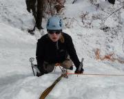 Eisklettern im Bielatal Immer wieder schöne Fotomotive - Carmen beim Eisklettern von oben aufgenommen ;)