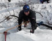Eisklettern Nur zwei Wochen nach Tour 1 ist Fechi wieder im Bielataleis unterwegs