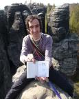 Tisaer Wände - Thomas auf dem Gipfel der Froschkrone