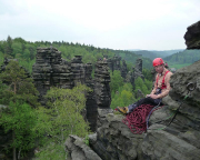 Auf dem Herkulesstein - mit herrlichem Blick auf die Gipfel um die Herkulessäulen