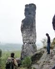 Tisaer Wände - hier am Falkenstein.  Außer Felsen ansehen war nichts! Regen, Regen, Regen!