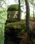 Pavillon auf dem Kleinen Winterberg - der Zugang ist leider nur noch über einen Kletterzustieg erlaubt - schade!