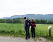 Beim Abmarsch in Mittelndorf Blick auf Affensteine und Zschand