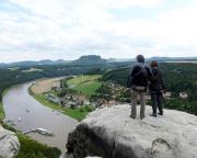 Auf dem Gipfel Mönch mit toller Aussicht
