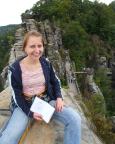 Auf dem Neurathener Felsentor - mit einem völlig anderen Blick auf die Basteibrücke