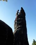 Thomas kurz vor dem Gipfel der Honigsteinnadel