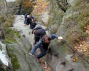 Aufstieg über die Rotkehlchenstiege bei unserer Wanderung von Schmilka nach Mittelndorf