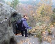 Auf dem Kamm der Schrammsteine kurz vorm Jägersteig