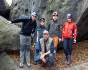 Unser Team vor der Befahrung der Bellohöhle