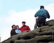 Teuflischer Fotograf: Volker sorgt für das Gipfelfoto des anderen Teams