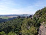 Blick vom Schrammsteinweg auf die  Schrammsteinkette