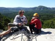 Rabentürmchen Gipfel – mit einer Berliner Bergfreundin